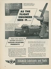 1950 Texaco Aviation Ad TWA Lockheed Constellation Fuel Truck Cockpit Instrument