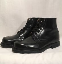 VTG 50's Herman Men's Sz 7.5 EEE Black Leather Moc Toe Lace Up Work Boots Shoes