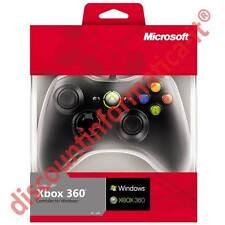 Controller ORIGINALE con filo per xBox 360 e PC xBox360 pad gamepad x box NERO