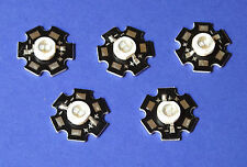 5 X 5W 365nm UV POWER  LED on HEATSINK Kühlkörper Emitter  5mm Geldschein Money