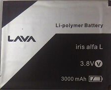 100% ORIGINAL HIGHER BACKUP BATTERY FOR LAVA IRIS ALFA L BATTERY IN 3000MAH
