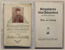 Zobeltitz Kriegsfahrten eines Johanniters 1915 Militärgeschichte 1.Weltkrieg xz