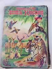 Wonders of the Animal Kingdom 1959 STAMP BOOKS Stickers
