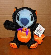 DISNEY STORE Plush Lilo & Stitch HALLOWEEN BEANIE ~BLACK CAT Costume