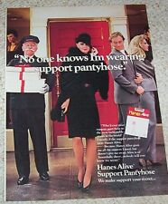 1984 ad page - Hanes Alive Pantyhose hosiery SEXY GIRL legs vintage Print ADVERT