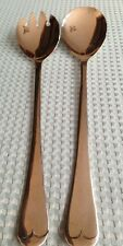 Sheffield England Silver Plated Salad Serving Fork and Spoon Set Of 2
