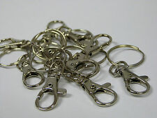 10 x Swivel Clip Bag Key Ring Findings FREE Rings lobster clasps split ring fob