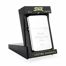 Engraved Silver Lighter with Star Box - Christmas Gifts, Gifts For Him or Her