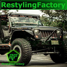 07-16 Jeep JK Wrangler Front Hood Matte Black Replacement Grille Shell Rubicon
