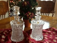 Beautiful Set of 2 Nachtmann Bleikristall Decanters Germany
