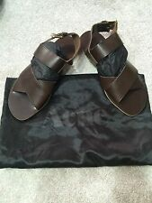 New ACNE Men's Brown Leather Sandals, Size 9