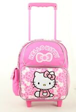 "The New Hello Kitty Rolling Backpack 12"" Travel Small School Toddler Wheeled Bag"