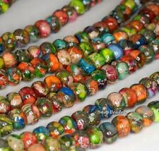 8X5MM RAINBOW IMPERIAL JASPER GEMSTONE RAINBOW RONDELLE 8X5MM LOOSE BEADS 7.5""