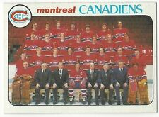 1978-79 TOPPS HOCKEY #200 CANADIENS CHECKLIST - EXCELLENT-