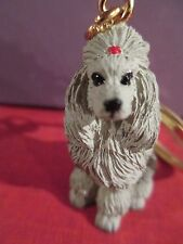 POODLE SILVER ~  key chain  great gift