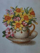 Counted cross stitch kit MADE WITH LOVE SPRING MOOD FLOWERS embroidery new
