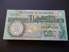 GUERNSEY 2013 THOMAS DE LA RUE ONE POUND NOTE IN UN-CIRCULATED MINT CONDITION.
