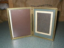 Vintage Gold Brass Metal Double (4x6) Picture Frame- Art Deco Design's