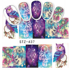 Nail Art Water Decal Dreamcatcher Owl Pattern Manicure Nail Art Transfer Sticker