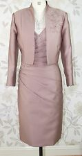 BNWT Mascara Mother of Bride Groom Races Embellished Dress & Jacket Size 12