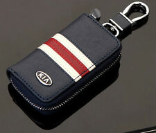 High-grade Leather Car Remote Key Chain Holder Case Bag Fit For Kia Auto