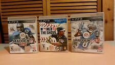 Lot of 3 PS3 games Madden 25 MLB The Show13 Madden 13 Used