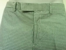 Polo Ralph Lauren Pale Green Gingham Shorts Flat Front Size 38 NWT