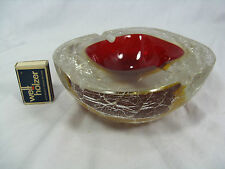 "XL Murano Sommerso "" crushed ice "" surface Aschenschale glass ashtray 2145 Gr."