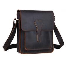 Men's Vintage Real Leather Shoulder Bag School Satchel Cross Body Sling bag iPad
