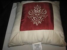 "Royal Heritage Home , Pillow , Red and White , 18"" X 18"""