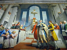 George Washington Freemason Mural Painting 8x10 Real Canvas Giclee Art Print New