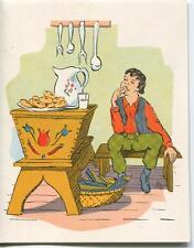 VINTAGE FOLK ART BOY RAISED DOUGHNUTS RECIPE 1 FRENCH BEER BISTRO GARDEN CARD
