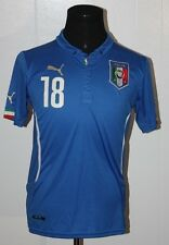 Puma Italia Italy Marco Parolo Believes Blue Soccer Football Jersey M *Defect