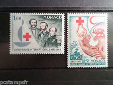 MONACO 1963, timbres 607/608, CROIX ROUGE, neufs**, MNH, RED CROSS