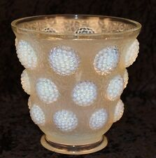 VERLYS LES CABOCHONS OPALESCENT ART GLASS VASE