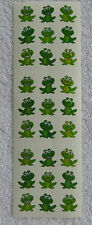 "Sandylion FROGS, SMALL Sparkly 1/2"" RETIRED Happy Little Frog Stickers RARE"