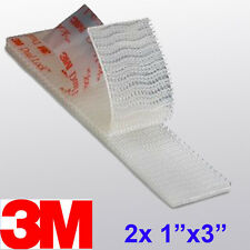 "3M 1"" x 3"" 2X Dual Lock SJ3560 Type 250 VHB Clear Reclosable Fastener E-ZPASS"