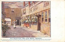 BR69858 the courtyard red lion hotel  banbury painting postcard uk