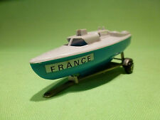 MAJORETTE TRAILER WITH SALING BOAT - BLUE AND WHITE- IN GOOD CONDITION