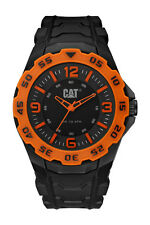 Mens Caterpillar Motion CAT LB14121134 Black Rubber Orange Accents Sport Watch