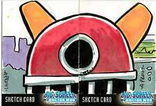 Dr Doctor Who Big Screen Additions Sketch Cards by Amy Provonost - Dual Sketch