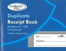 Page livre reçu en double numéroté 1-100 avec 2 feuilles de papier carbone CPG / 125