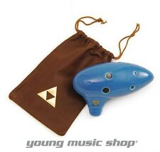 Legend OF Zelda OCARINA OF TIME with SONGBOOK & BROWN LEATHER BAG Triforce