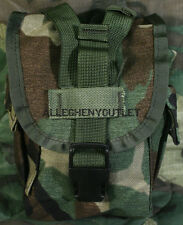 US Military 1 QT MOLLE Woodland Camo CANTEEN COVER Carrier Utility Pouch NEW