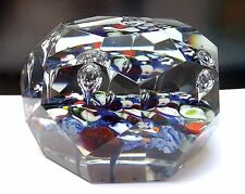 Rare Antique French St Louis Art Glass Faceted Paperweight