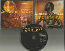 Fugees WYCLEF JEAN We Trying Stay BEE GEES TRK INSTRUMENTAL & ACAPELLA PROMO CD