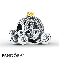 Authentic Pandora Disney Cinderella's Pumpkin Coach Charm 791573CZ with #Pouch