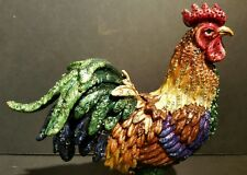 7Jay Strongwater Jarvis Rooster Figurine Enamel Paint on Metal Swarovski Crystal