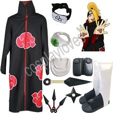 Naruto Akatsuki cloak Deidara Cosplay Costume set Anime
