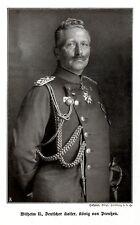 Wilhelm II. Deutscher Kaiser, König von Preußen. Bilddokument von 1901